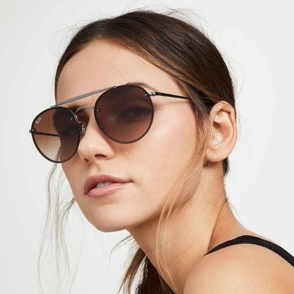 ray ban sunglasses round double bridge